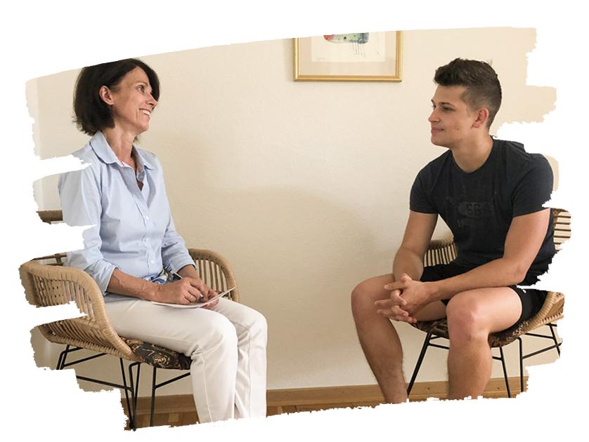 Anamnesegespräch in der Praxis für Physiotherapie Siegburg